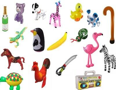 £1.99 • Buy Inflatable Toys Kids Hen Party Swim Props Blow Up Musical Instruments Animals