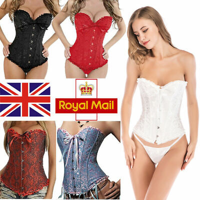 £10.69 • Buy Lady Slimming Corset And Basques Waist Traniner Bustier Lingerie Top Shapewear