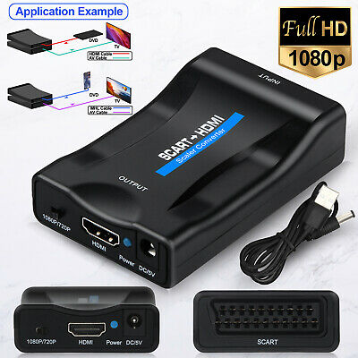 £7.99 • Buy SCART To HDMI Composite 1080P Video Scaler Converter Audio Adapter For DVD TV UK
