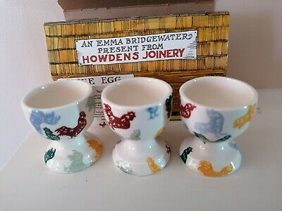 £26 • Buy Emma Bridgewater Howdens Rooster Boxed Set 3 Egg Cups ( Limited Edition )