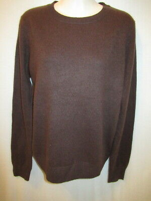$18.95 • Buy 100% Cashmere Chocolate Brown Crew Sweater May Fit M L