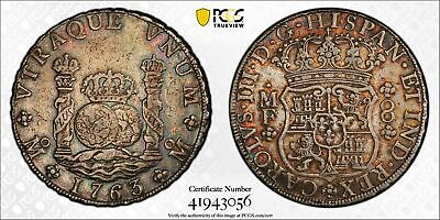 AU1108.24 • Buy PCGS Mexico 1763 Pillar 8 Reales Charles III Spanish Colonial Silver Coin XF40