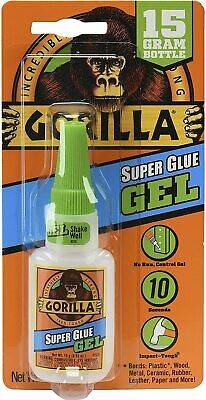 Gorilla Super Glue Gel Adhesive Bottle Extra Strong For Metal Wood Leather  • 4.99£