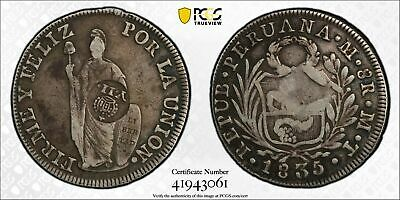 AU772.80 • Buy PCGS Philippines 1834 37 8 Reales Counterstamped Y.11 Peru 1835 Silver Coin VF30