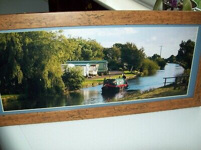£13 • Buy Barge Canal Boat Picture - Narrow Boat - Framed