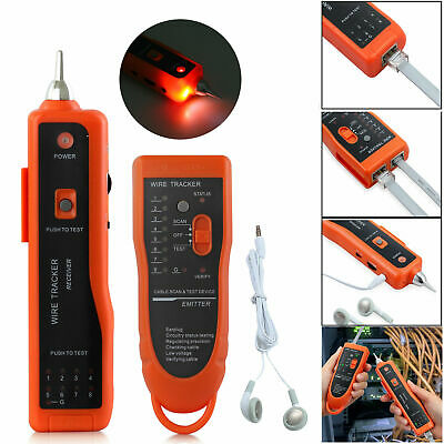 Phone Telephone Network Wire Line LAN Cable Guage RJ Tracker Toner Tracer Tester • 23.18£