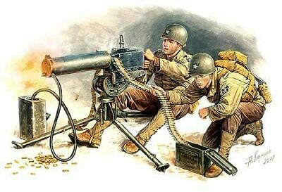 $13.78 • Buy Master Box Models 1/35 Wwii Us Machine Gunners (2) W/browning M1917a1 Mg   3519