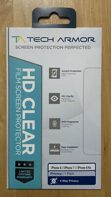 £10 • Buy NEW Tech Armor HD Screen Protector With Cloth, Removal Tape Anti Scratch