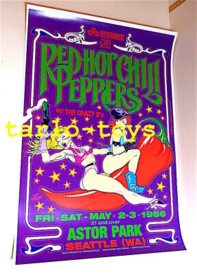 $19.99 • Buy RED HOT CHILI PEPPERS - Seattle, Us - 2 May 1986 - Concert Poster