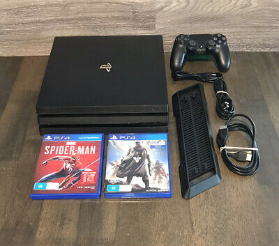 AU380 • Buy Sony PlayStation 4 PRO 1TB Console With Controller, Cables, Stand & 2 Games. PS4