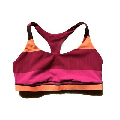 $ CDN48.51 • Buy Lululemon 50 Rep Bra Blossom Stripe Bumble Berry 12