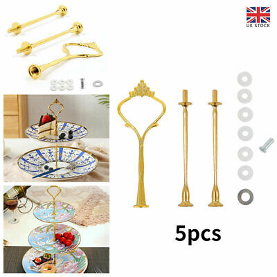 £7.31 • Buy 5X 3 Tier Cake Stand Centre Rod Handle FittingsCupcake Muffin Plate Stand Fixing