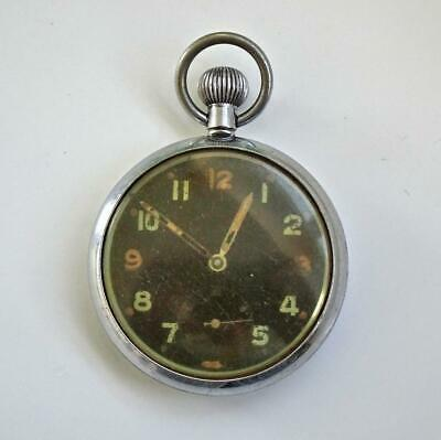 Gent's WWII Military Issue (GSTP) 15 Jewelled Swiss Made Pocket Watch • 7.50£