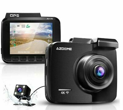 AU105.61 • Buy 4k Dash Cam With Gps WiFi Car Video DVR Recorder Dual Cameras For Front And Rear