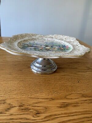 Vintage Cake Stand Plate • 4.50£