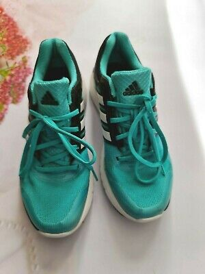 AU7.14 • Buy ADIDAS Teal Black Trainers Shoes UK 6.5  Run Strong