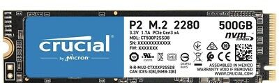AU79.99 • Buy Crucial P2 500GB NVMe M.2 PCIe 3D NAND SSD (CT500P2SSD8) EXPRESS BRAND NEW