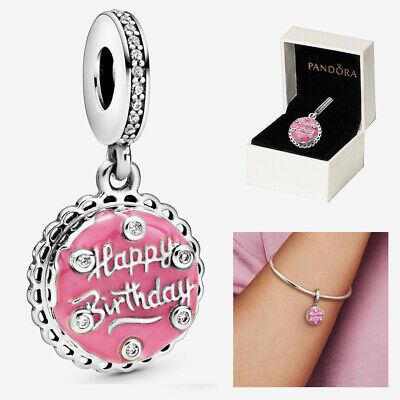 £10 • Buy Pandora HAPPY BIRTHDAY CAKE Dangle Charms Sterling Silver With Gift Box