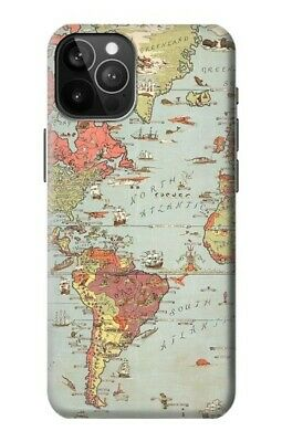 £20.99 • Buy S3418 Vintage World Map Case For IPHONE Samsung Smartphone ETC