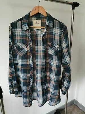 £9 • Buy Womens Hollister Blue Red White Checked Plaid Shirt Blouse Casual Top Large L