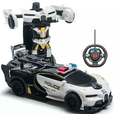 AU36.75 • Buy Toys For Boys Age 3 4 5 6 7 8 9 Year Old Kids Police Car Transformer 2 In1 Robot