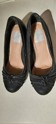 Black Wedge Shoe Size 7 EEE Evans Wide Fit  • 8£