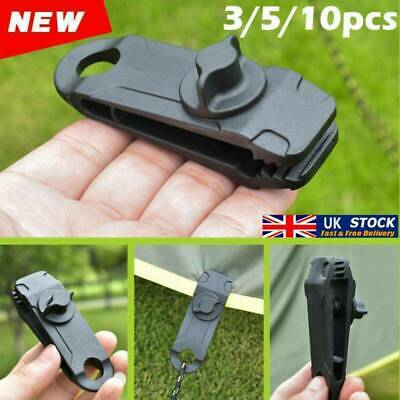 10x Reusable Tent Tarp Tarpaulin Clip Clamp Buckle Camping Tool Heavy Duty UK • 3.66£