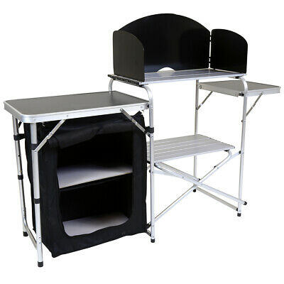 Charles Bentley Odyssey Folding Kitchen Camping Storage Unit Portable Cooking • 99.99£