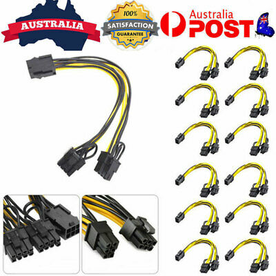 AU16.99 • Buy 6/12x PCI-E 6pin To 8-pin Power Splitter Cable PCI Express Graphic Card Cable AU