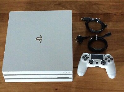 AU369.99 • Buy PS4 PlayStation 4 Glacier White Console PRO 1 TB  With Genuine Controller