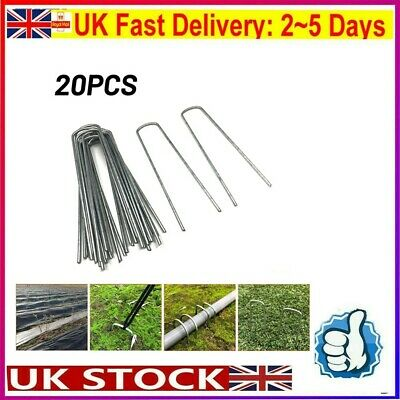 £7.34 • Buy 20 X Heavy Duty Galvanised Steel Tent Pegs Metal Camping Ground Sheet Anchor