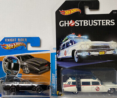 Hot Wheels Knight Rider KITT And Ghostbusters Ecto-1 1:64 • 6.77£