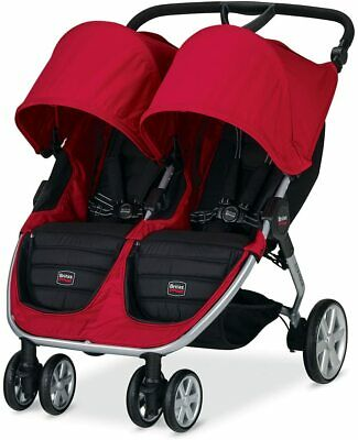 £299 • Buy Britax B-AGILE Double Red Pram/Stroller- New- Box Damage- Free Delivery RRP£345