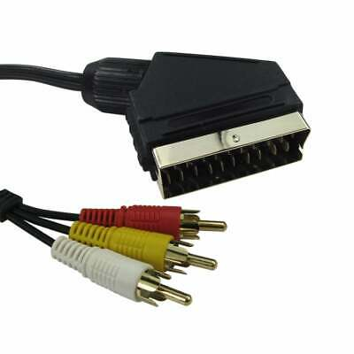 £4.29 • Buy 5m Scart To RCA Triple Phono Cable Composite Audio Video Lead Red White Yellow