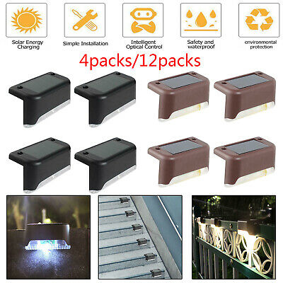 £13.88 • Buy Outdoor Solar LED Deck Lights Path Garden Patio Pathway Stairs Step Fence Lamp 8