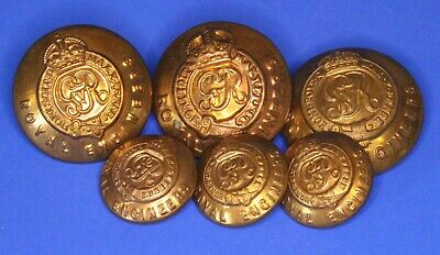WW1 WW2 Vintage Brass Royal Engineers Buttons 16, 23mm [22345] • 11.99£