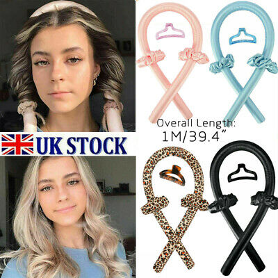 Lady Hair Curler Silk Ribbon Heatless Curling Rod Headband Lazy Wave Hair Styles • 1.99£