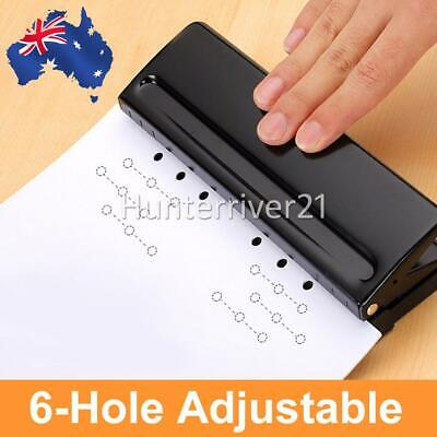 AU25.49 • Buy Adjustable 6 Sheet Paper Punch Puncher 6-Hole Scrapbooking 6 Ring Binder Sheet