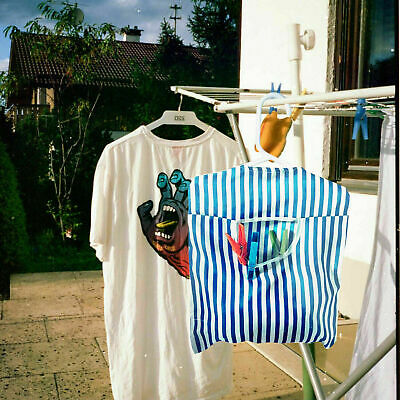 £2.99 • Buy Hanging Fabric Peg Bag Clothes Line Laundry Washing Basket Storage Pouch Hanger
