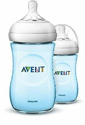AU24.55 • Buy Philips Avent Natural Baby Bottles 260ml Blue/Pink 2-Pack Free Express Shipping