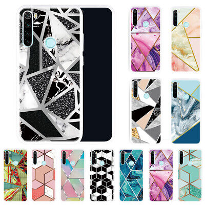 AU5.81 • Buy Geometric Marble Case For Xiaomi Redmi 9T Note 8T 9S 9 Pro Soft Silicone Cover