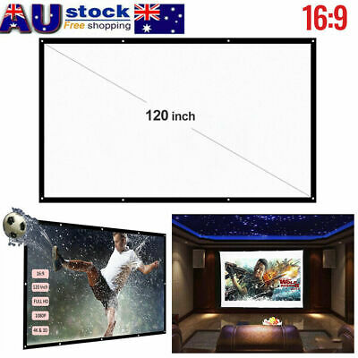 AU19.59 • Buy Foldable 120 Inch Projector Screen 16:9 Home Cinema Theater 3D Projection AU