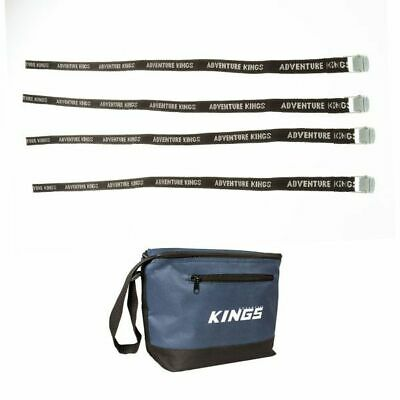 AU34.90 • Buy Adventure Kings 8L Cooler Bag + Fridge Tie Down Straps 4 Pack Cam Locking