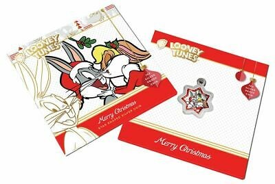 AU0.99 • Buy 2018 PM $1 1oz Loney Tunes Merry Christmas Star Shaped Silver Proof Coin D5-1083