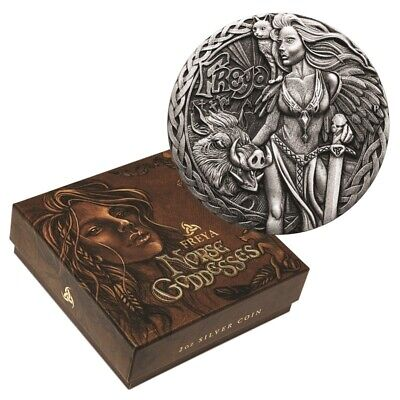 AU122.50 • Buy 2017 PM $2 2oz Norse Goddesses - Freya Silver High Relief Antiqued Coin D5-1109