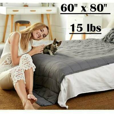 AU8.99 • Buy Weighted Blanket 7kg 152cm X 203cm Full Queen Size Reduce Pressure Glass Beads