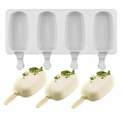 £4.99 • Buy 4Cell Frozen Ice Cream Pop Mold Popsicle Maker Lolly Cake Mould Tray Pan Kitchen