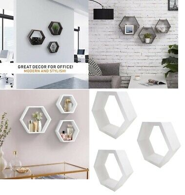 £16.79 • Buy Set Of 3 Floating Wall Shelves Picture Ledge Display Rack Book Hanging Shelf New