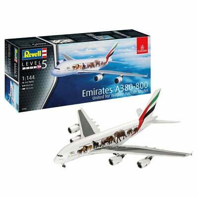 £26.95 • Buy Revell 03882 1:144 Airbus A380 Emirates ' Wild-Life ' Aircraft Model Kit