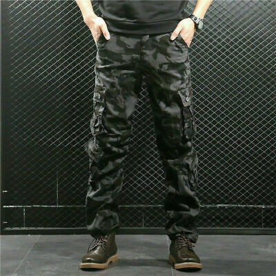 £18.98 • Buy Men Camouflage Trousers Tactical Work Outdoor Hiking Combat Cargo Casual Pants